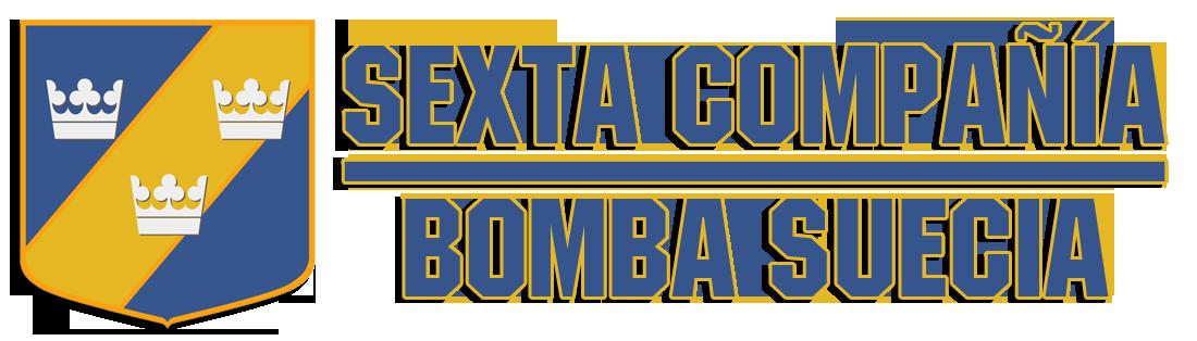 "Sexta Compañía ""Bomba Suecia"" Retina Logo"